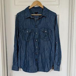 Ann Taylor Denim Button Down Shirt
